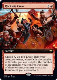 Reckless Crew (Extended Art), Magic: The Gathering, Kaldheim