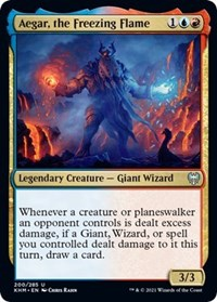 Aegar, the Freezing Flame, Magic: The Gathering, Kaldheim