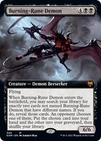 Burning-Rune Demon (Extended Art), Magic: The Gathering, Kaldheim