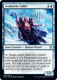 Avalanche Caller, Magic: The Gathering, Kaldheim