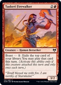 Tuskeri Firewalker, Magic: The Gathering, Kaldheim