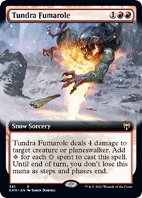 Tundra Fumarole (Extended Art), Magic: The Gathering, Kaldheim