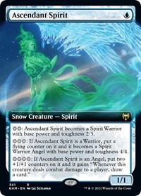 Ascendant Spirit (Extended Art), Magic: The Gathering, Kaldheim