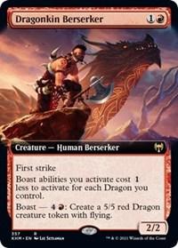 Dragonkin Berserker (Extended Art), Magic: The Gathering, Kaldheim