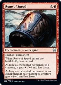 Rune of Speed, Magic: The Gathering, Kaldheim