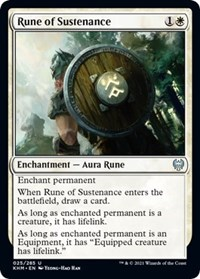 Rune of Sustenance, Magic: The Gathering, Kaldheim