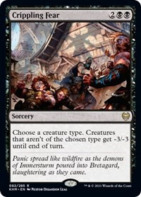 Crippling Fear, Magic: The Gathering, Kaldheim