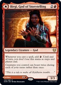 Birgi, God of Storytelling, Magic: The Gathering, Kaldheim