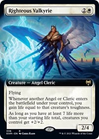 Righteous Valkyrie (Extended Art), Magic: The Gathering, Kaldheim