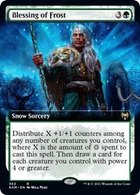 Blessing of Frost (Extended Art), Magic: The Gathering, Kaldheim