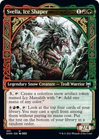 Svella, Ice Shaper (Showcase), Magic: The Gathering, Kaldheim