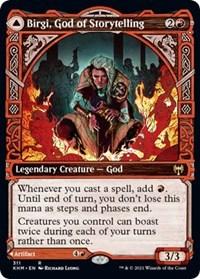 Birgi, God of Storytelling (Showcase), Magic: The Gathering, Kaldheim