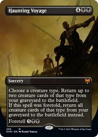 Haunting Voyage (Borderless), Magic: The Gathering, Kaldheim