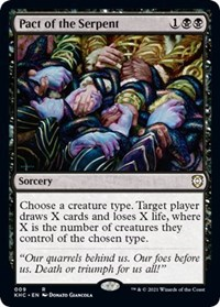 Pact of the Serpent, Magic: The Gathering, Commander: Kaldheim
