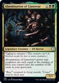 Abomination of Llanowar, Magic: The Gathering, Commander: Kaldheim