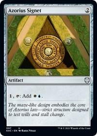 Azorius Signet, Magic: The Gathering, Commander: Kaldheim