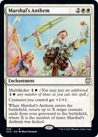 Marshal's Anthem, Magic: The Gathering, Commander: Kaldheim