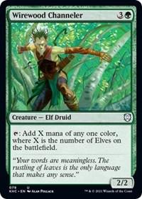 Wirewood Channeler, Magic: The Gathering, Commander: Kaldheim