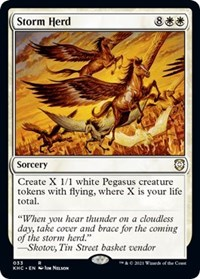 Storm Herd, Magic: The Gathering, Commander: Kaldheim