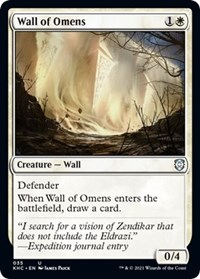 Wall of Omens, Magic: The Gathering, Commander: Kaldheim