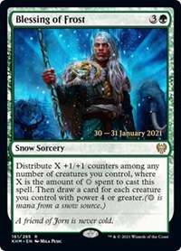 Blessing of Frost, Magic: The Gathering, Prerelease Cards