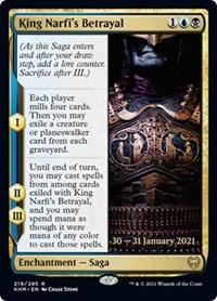 King Narfi's Betrayal, Magic: The Gathering, Prerelease Cards