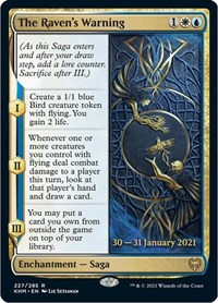The Raven's Warning, Magic: The Gathering, Prerelease Cards