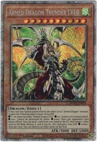Armed Dragon Thunder LV10 (Starlight Rare), YuGiOh, Blazing Vortex