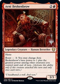 Arni Brokenbrow, Magic: The Gathering, Promo Pack: Kaldheim