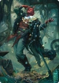 Tibalt, Cosmic Impostor Art Card, Magic: The Gathering, Art Series: Kaldheim