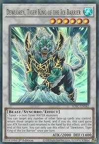 Dewloren, Tiger King of the Ice Barrier, YuGiOh, Structure Deck: Freezing Chains