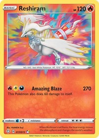 Reshiram, Pokemon, Shining Fates