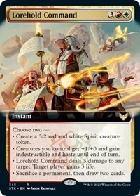 Lorehold Command (Extended Art), Magic: The Gathering, Strixhaven: School of Mages