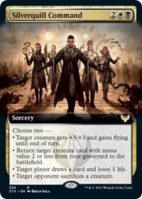 Silverquill Command (Extended Art), Magic: The Gathering, Strixhaven: School of Mages
