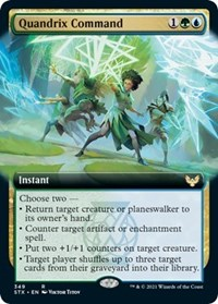 Quandrix Command (Extended Art), Magic: The Gathering, Strixhaven: School of Mages