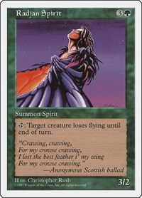 Radjan Spirit, Magic: The Gathering, Fifth Edition