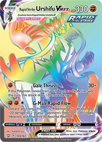 Rapid Strike Urshifu VMAX (Secret), Pokemon, SWSH05: Battle Styles