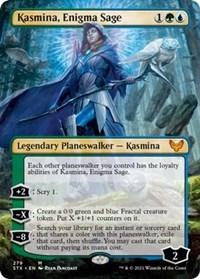 Kasmina, Enigma Sage (Borderless), Magic: The Gathering, Strixhaven: School of Mages