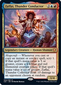 Zaffai, Thunder Conductor, Magic: The Gathering, Commander 2021