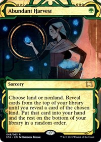 Abundant Harvest, Magic: The Gathering, Strixhaven: Mystical Archives