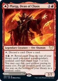 Plargg, Dean of Chaos, Magic: The Gathering, Strixhaven: School of Mages