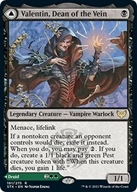 Valentin, Dean of the Vein, Magic: The Gathering, Strixhaven: School of Mages