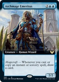 Archmage Emeritus (Extended Art), Magic: The Gathering, Strixhaven: School of Mages