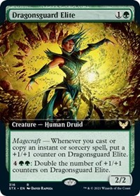 Dragonsguard Elite (Extended Art), Magic: The Gathering, Strixhaven: School of Mages