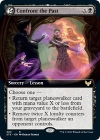 Confront the Past (Extended Art), Magic: The Gathering, Strixhaven: School of Mages