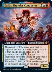 Zaffai, Thunder Conductor (Extended Art), Magic: The Gathering, Commander 2021