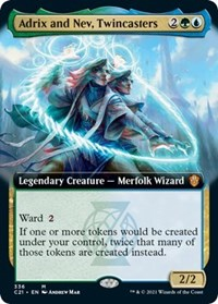Adrix and Nev, Twincasters (Extended Art), Magic: The Gathering, Commander 2021