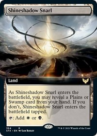 Shineshadow Snarl (Extended Art), Magic: The Gathering, Strixhaven: School of Mages