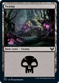 Swamp (371), Magic: The Gathering, Strixhaven: School of Mages