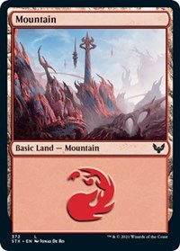 Mountain (372), Magic: The Gathering, Strixhaven: School of Mages